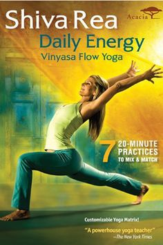 Skip The Gym — These Non-Cheesy Workout DVDs Are Actually Amazing #refinery29  http://www.refinery29.com/exercise-videos#slide10  Best Energizer: Shiva Rea: Daily Energy Vinyasa Flow Yoga  Shiva Rea describes herself as a yogini firekeeper, a sacred activist, and a leading innovator in prana flow yoga. In other words, she means business. You can mix and match seven 20-minute yoga practices, which range from relaxingly spiritual to awakening and intense, and the customizable Yoga Matric ...