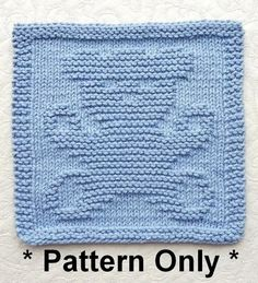 Knitting pattern for Teddy Bear Wash Cloth