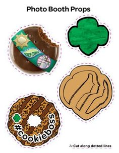 Cookie booth props | girl scouts