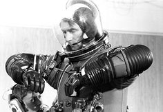 Astronaut Gene Cernan, commander of the Apollo 17 mission to the Moon checks his spacesuit,1972