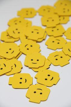 Lego Head ConfettiSet of 100 by CraftingCrew on Etsy, $10.00