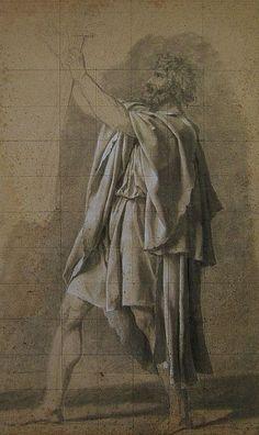 Dibujo preparatorio del padre Horacio.