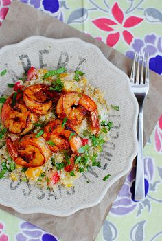 Jerk Shrimp with Caribbean Quinoa. Sign us up!