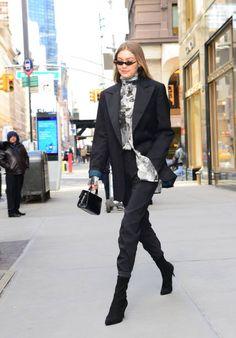 Model Gigi Hadid is seen walking in Soho on February 8 2018 in New York City