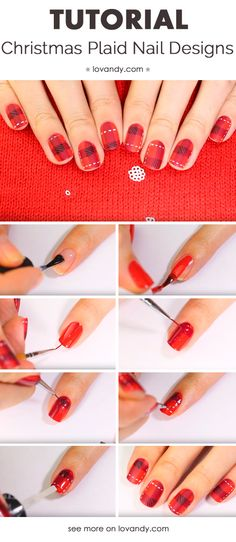 How To Do Marine Nail Art With Strips And Anchors Nail Art
