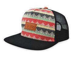 b1fa47162348b Mato Woven Trucker Hat Snapback Flat Brim Boho Tribal Aztec Pattern Baseball  Cap Black