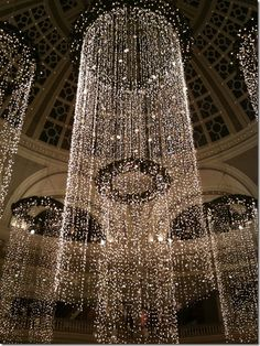 Fantastic beaded curtain.  These look incredibly effective in rooms with enough ceiling but I don't miss my days of hanging them.