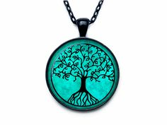 TREE OF LIFE Pendant  Tree of life Necklace  by outofspacejewelry, $13.75