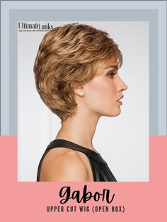 Upper Cut Wig by Gabor... From the Gabor¨ Luxury line.. All over layered waves highlight this short textured basic cut with a Monofilament Crown for a natural contour. #hairstyles #hairdo #hairoftheday #styleinspo #styles #styleoftheday