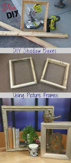 A DIY Shadow Box that utilizes picture frames!
