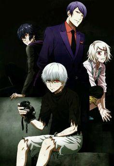 Tokyo Ghoul ken kaneki, Kirishima Ayato, Suzuya Juuzou & Tsukiyama Shu