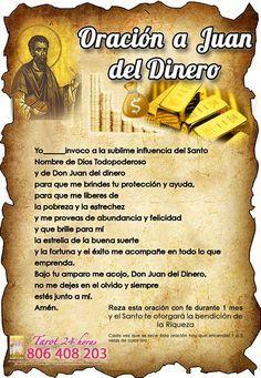 Oración A Don Juan Dinero Hechizo Para Atraer Dinero Tarot De María Oraciones Oracion Para El Dinero Hechizos Para Atraer Dinero