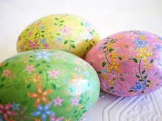 Floral Pastel Origami Decoupage Glitter Easter by CatnipStudioToo