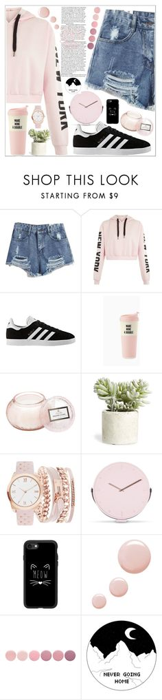 """""""style"""" by lena-volodivchyk ❤ liked on Polyvore featuring adidas, Voluspa, Allstate Floral, A.X.N.Y., Casetify, Topshop and Deborah Lippmann"""