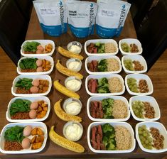 Weekly Meal Preparation Plan | This meal prep achieves (keeping in mind it doesn't include dinner): 2358 calories 166 grams protein 206 grams carbs 75 grams fat