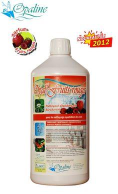 Nettoyant sols puissant-produit entretien parfumé aux fruits rouges pour sols-produit entretien sols-OPAL FRUITS ROUGES