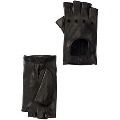 Portolano Fingerless Leather Glove ($80) ❤ liked on Polyvore featuring accessories, gloves, black, portolano, black leather gloves, leather gloves, portolano gloves and fingerless gloves