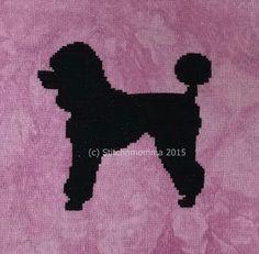 STITCHNMOMMA: Poodle Silhouette Cross Stitch Pattern