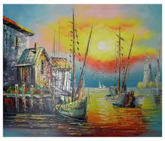 Canvas Art - Wall Art finished in USAHistory: Sea Life is a hand finished canvas oil painting. This beautiful canvas painting shows the brilliant colors of the sea as two sh