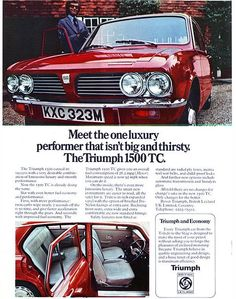 Triumph 1500TC Triumph Car, Triumph Motor, Retro Cars, Vintage Cars, British Car, Van Car, Car Brochure, Commercial Vehicle, Nice Cars