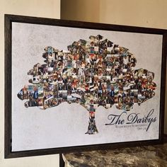 Fathers Day Gifts From Kids Crafts Family Tree With Pictures, Family Tree Photo, Family Tree Art, Tree Canvas, Canvas Wall Art, Canvas Collage, Custom Canvas Prints, Wall Art Prints, Familie Symbol