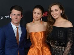 """Selena Gomez, executive producer of the Netflix series """"13 Reasons Why,"""" attends the premiere in Los Angeles on March… – @UPI Photo Gallery"""