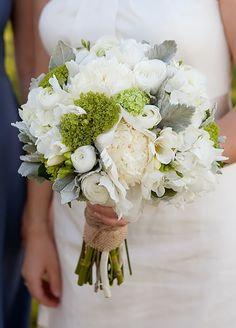Green wedding flower bouquets