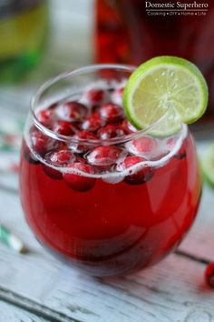 Cranberry Ginger Holiday Cocktail is the perfect signature drink for holiday parties!