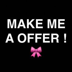 DONT BE AFRAID TO MAKE ME OFFERS!!! ITS WORTH A TRY! SO DONT BE SHY! to hit that OFFER BUTTON !!! I take almost all offers if they are reasonable ! I like to negotiate with my customers so we can both end up earning after a purchase if you really love it I promise you won't regret it !!!!! But please guys, no low ballers !! Other