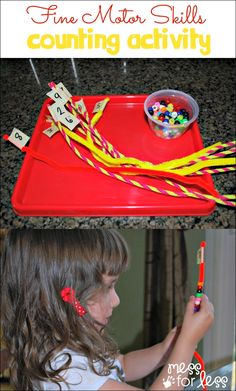 Fine Motor Skills Activity for Preschoolers - Mess for Less