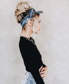 Scarf hairstyles, bandana hairstyles for long hair, outfits for short hair, Scarf Hairstyles, Summer Hairstyles, Easy Hairstyles, Hairstyle Ideas, Cute Bandana Hairstyles, Medium Hairstyle, Black Hairstyle, Hairstyles With Headbands, Homecoming Hairstyles