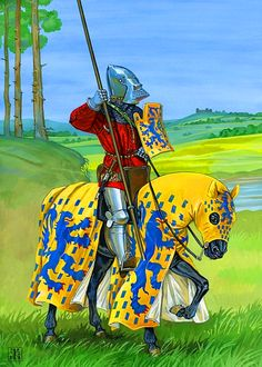 French gendarme, Hundred Years War