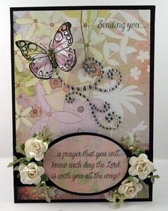 Another lovely handmade card from  Splitcoast Stampers.