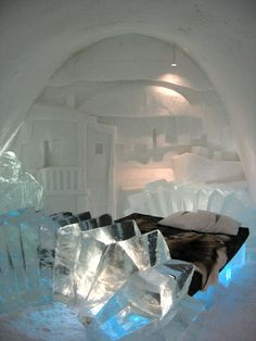 Ice art, it will become a Bed room...