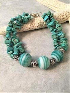 Items similar to Turquoise Bracelet Gift for Her, Summer Jewelry, Coastal Bracelet, Turquoise Beaded Bracelet on Etsy Summer Jewelry, Beach Jewelry, Turquoise Beads, Turquoise Bracelet, Coastal, Gifts For Her, Beaded Bracelets, Etsy, Pearl Bracelets