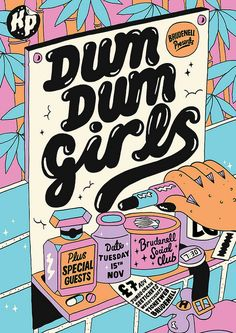 Kate Prior Dum Dum Girls #poster