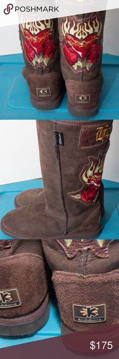 Koolaburra Heart & Soul Boots Chocolate In nice condition.  Size tage says 7-men...Koolaburra sizing chart puts these at size 8 women. koolaburra Shoes Ankle Boots & Booties