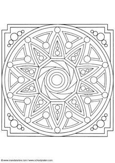 Kleurplaat mandala-1602i