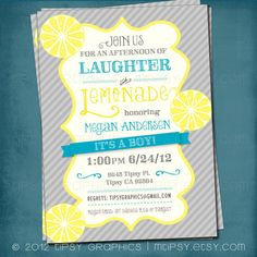 Hey, I found this really awesome Etsy listing at https://www.etsy.com/listing/100468596/lemonade-and-laughter-baby-or-bridal