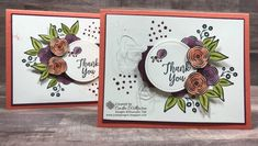Perennial Birthday, Not just for Birthdays – Just Sponge It! Big Shot, Calypso Coral, Everyday Label Punch, Perennial Birthday Stamp Set, Rich Razzleberry, Silver Metallic Thread, Southern Serenade stamp set, Stampin' Blends, Stitched Shapes Framelits, Thick Whisper White cardstock, Whisper White Envelopes, Stampin' Up! Thank you, DIY