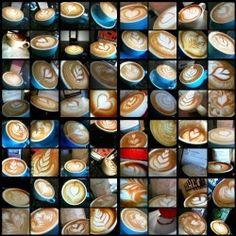 Latte art montage
