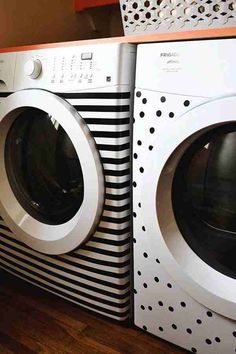 Never thought of this! Nice way to spruce up our laundry room