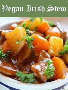 Crockpot Meatless Irish Stew - will try with quinoa instead of barley and beans instead of peas.