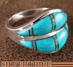 Southwest Jewelry | Turquoise Opal Jewelry | Silver Jewelry | Inlay Ring