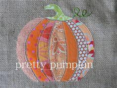 pumpkin burlap applique pattern