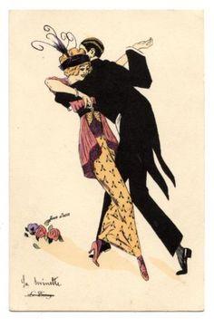 XAVIER-SAGER-COUPLE-DE-DANSEURS-BELLE-ePOQUE-DANCE-LE-TANGO-1914