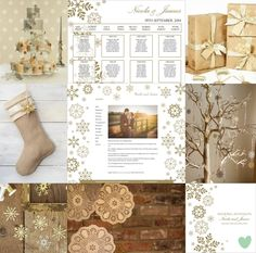 Falling Snowflakes Wedding Theme Mood Board from The Wedding Community