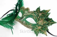 Women's Poison Ivy Fairy Nymph Mask with Leaves Green (Green)