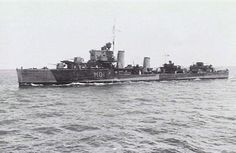 HMS Hotspur fought in the First Battle of Narvik in April 1940 where she was badly damaged. Narvik, Time In Spanish, Naval History, Navy Ships, Royal Navy, Water Crafts, Battleship, North Africa, World War Two