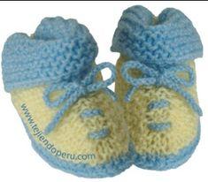 Booties Crochet, Crochet Baby Booties, Creative Knitting, Knitting For Kids, Baby Knitting, Baby Slippers, Knitted Slippers, Baby Bootees, Knitting Patterns